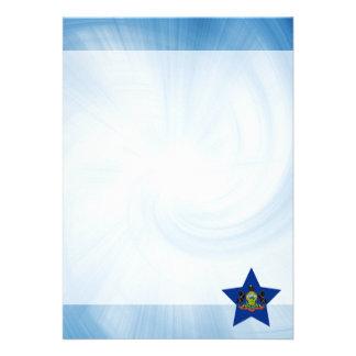 Kid Friendly Pennsylvania Flag Star 13 Cm X 18 Cm Invitation Card