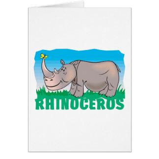 Kid Friendly Rhinoceros Greeting Card
