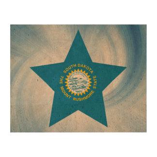 Kid Friendly South Dakota Flag Star Cork Paper Prints