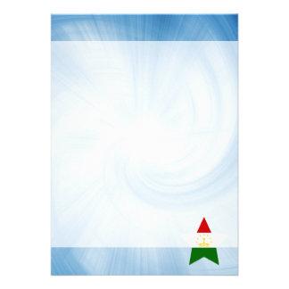 Kid Friendly Tajikistan Flag Star 13 Cm X 18 Cm Invitation Card