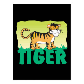 Kid Friendly Tiger Postcard