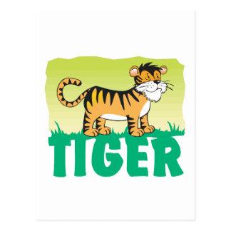 Kid Friendly Tiger Postcard