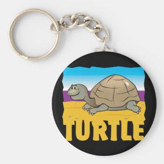 Kid Friendly Turtle Basic Round Button Key Ring