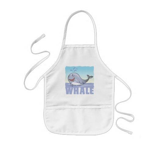 Kid Friendly Whale Apron