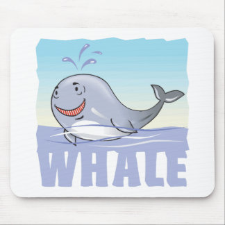 Kid Friendly Whale Mouse Pad