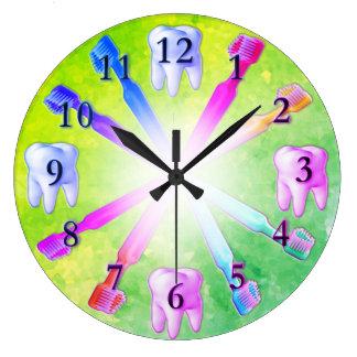 Kid Fun Colourful Toothbrush Clock