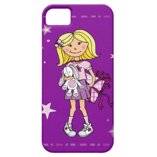 Kid girl cuddles pink purple iphone case case for the iPhone 5