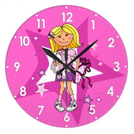 kid girls gift cuddles pink room wall clock
