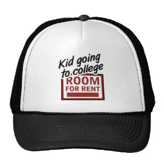 Kid Going to College Room For Rent Hats