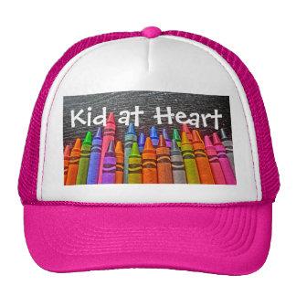 Kid Heart crayon hat
