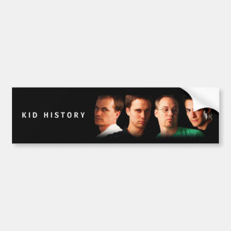 Kid History Cast Bumper Sticker