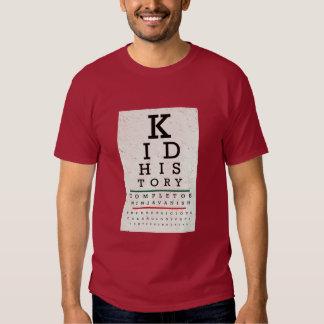 """Kid History"" Eye Chart Tee Shirt"