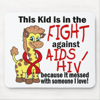 Kid In The Fight Against AIDS Mousepad