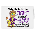 Kid In The Fight Against Alzheimer's Disease Card