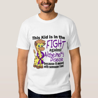 Kid In The Fight Against Alzheimer's Disease T Shirts