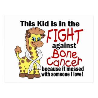 Kid In The Fight Against Bone Cancer Postcard
