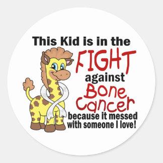 Kid In The Fight Against Bone Cancer Round Sticker