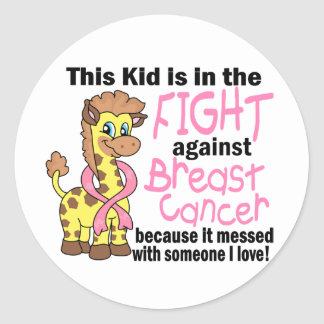 Kid In The Fight Against Breast Cancer Stickers