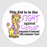 Kid In The Fight Against Cancer Round Stickers