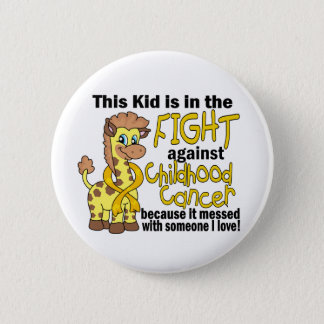 Kid In The Fight Against Childhood Cancer 6 Cm Round Badge