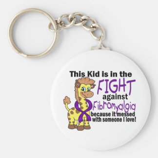 Kid In The Fight Against Fibromyalgia Key Chain
