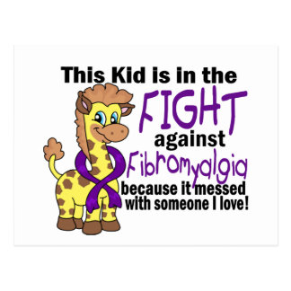 Kid In The Fight Against Fibromyalgia Postcards