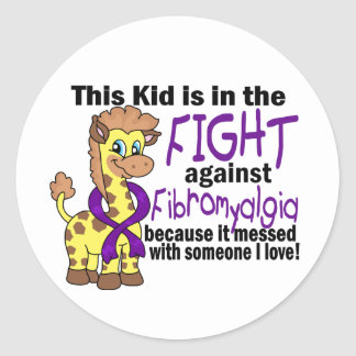 Kid In The Fight Against Fibromyalgia Stickers