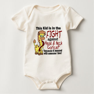 Kid In The Fight Against Head And Neck Cancer Baby Bodysuit