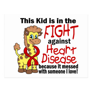 Kid In The Fight Against Heart Disease Postcard