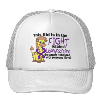 Kid In The Fight Against Leiomyosarcoma Mesh Hat