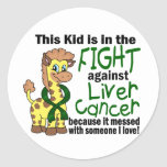 Kid In The Fight Against Liver Cancer Stickers