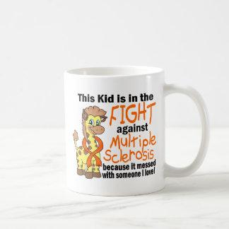 Kid In The Fight Against Multiple Sclerosis Basic White Mug