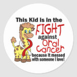 Kid In The Fight Against Oral Cancer Sticker