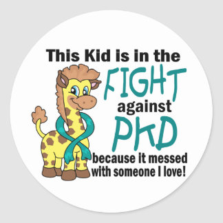 Kid In The Fight Against PKD Classic Round Sticker