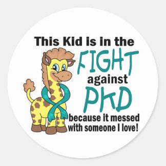 Kid In The Fight Against PKD Round Sticker
