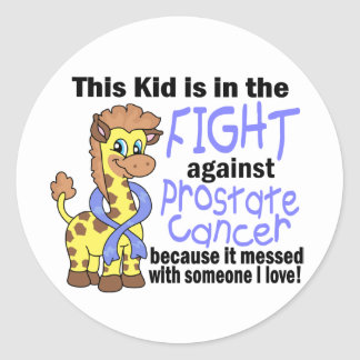 Kid In The Fight Against Prostate Cancer Round Sticker