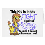 Kid In The Fight Against Stomach Cancer Greeting Card