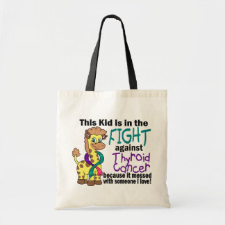 Kid In The Fight Against Thyroid Cancer Budget Tote Bag