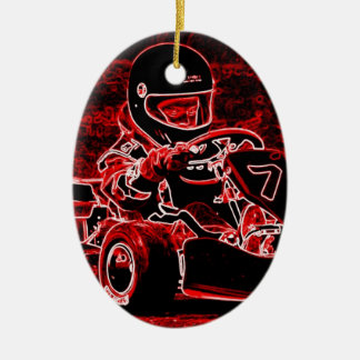 Kid Karts Are RED Hot! Ceramic Oval Decoration