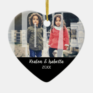 Kid Love  with DIY Photo and Text Christmas Ornament