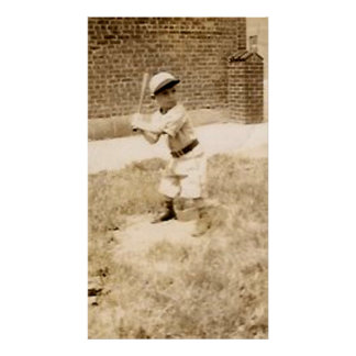 kid playing baseball poster