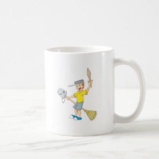 Kid Playing Basic White Mug
