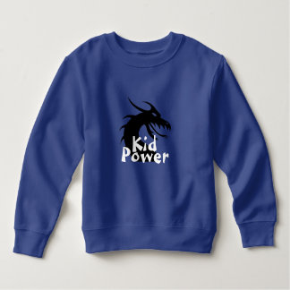 Kid Power Sweatshirt Dragon White Text