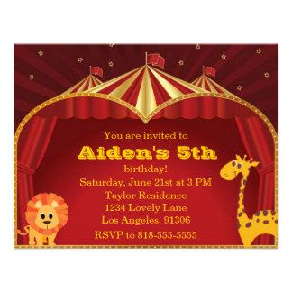 Kid s Circus Birthday Invitation