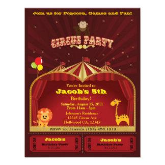 Kid s Circus Birthday Party Invites