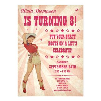 Kid s Cowgirl Birthday Invitations