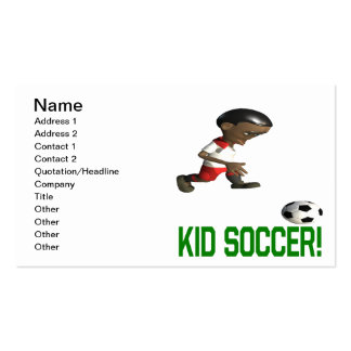 Kid Soccer Business Card Templates