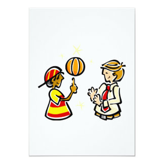 Kid Spinning ball for coach 13 Cm X 18 Cm Invitation Card