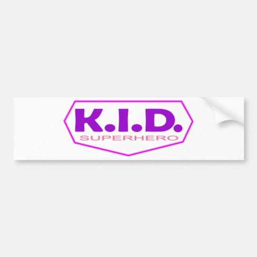 Kid Superhero 2 Bumper Sticker