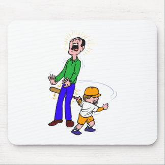 kid swing hit dad mouse pads